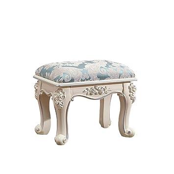 Amazon.com: Elegante taburete de mesa de madera con cojín ...