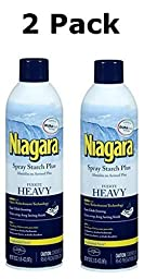 Niagara Heavy Spray Starch Plus Durafresh, Professional Finish, 20 Oz (2 Pack) by Niagara