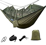 suyi Portable Foldable 2 Person Camp Hammock Mosquito Net Hammock Tree Hammocks Tent Travel Bed,Premium Quality Lightweight & Durable 210T Nylon Parachute Fabric,Capacity up to 441 lbs,with Strong Tree Straps,Hooks,Storage Bag,Perfect for Outdoor...