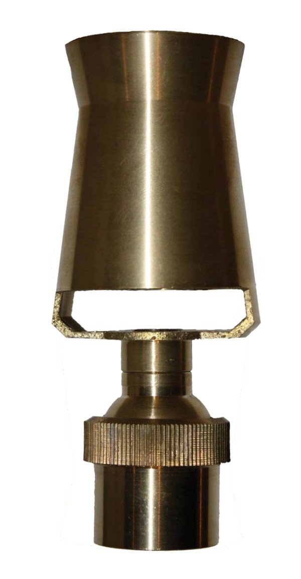 BRONZE FROTHY NOZZLE for Pond Fountain Produces Foaming Geyser Spray - Features Tilt Option and 1 Inch FPT Inlet