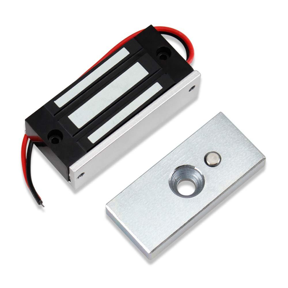 uoweky 60KG / 132lbs Serrure Magnétique électronique de Contrôle d'accès à Serrure électromagnétique DC12V Fail Safe Mini Petite Serrure de porte NC pour Système de Sécurité électr