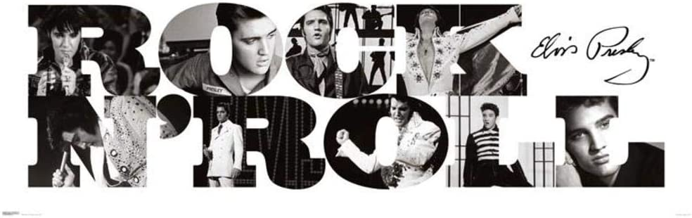 Pyramid America Elvis Presley Rock n Roll Cool Wall Decor Art Print Poster 36x12