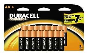 Duracell Coppertop Batteries - AA Size, 16-Pk.