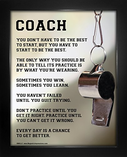 "Framed Coach Motivational 8"" x 10"" Sport Poster Print by Posters and Prints by Magnetic Impressions"