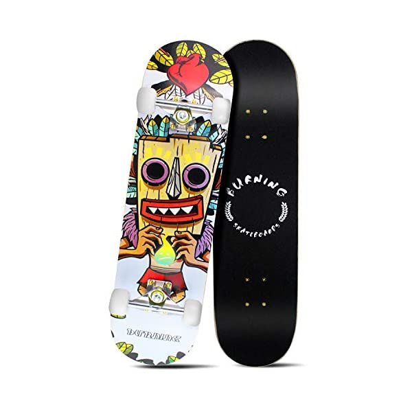 Easy_Way Complete Skateboards- Standard Skateboards ABEC-7 95A for Beginners Starters-...