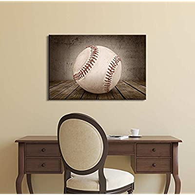 Baseball Rustic Sport Panel - Canvas Art Wall Art - 32