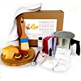 Complete Cheese Making Kit - Make Goat Chevre, Paneer, Queso Blanco, Ricotta, Mozzerella, Colby, Montery Jack and Gouda