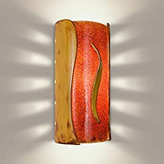 product image for A19 Flare Wall Sconce, 4-Inch by 5.5-Inch by 11.75-Inch, Desert Blaze/Fire