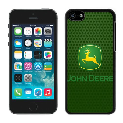 John Deere Logo Black Shell Case for iPhone 5C,Luxury Cover