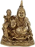 Kapasi Handicrafts Brass Kuber and Laxmi Sitting Idol ( 5'' x 3.5'' x 6'' inch , Golden)