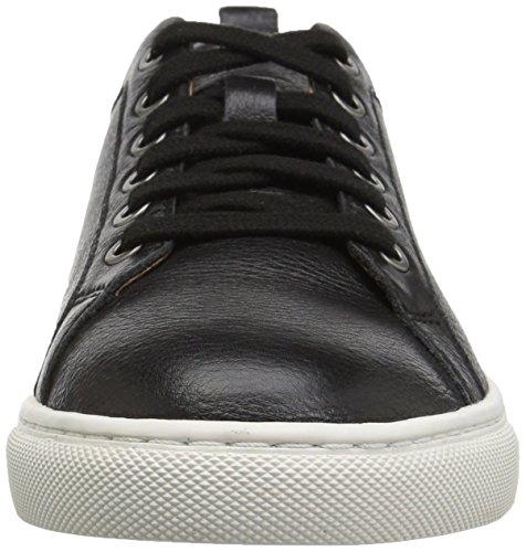 206 Collective Women's Lemolo Lace-up Fashion Sneaker Black Leather