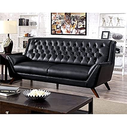 Astonishing Amazon Com Furniture Of America Mayfield Tufted Leather Interior Design Ideas Gentotthenellocom