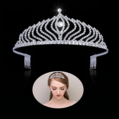 Tiaras And Crowns For Women,Princess Tiara with Comb Pin Wedding Bridal Birthday Tiaras,Rhinestone tiaras and crowns for little girls Headband For Party (KY005)