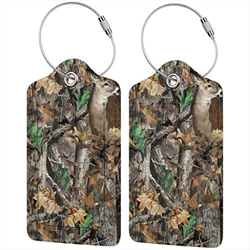 (Realtree Camo Vector Unique Luggage Tag, Flexible Travel Luggage Tags For Baggage Bags/Suitcases - Name ID Labels Set For Travel)