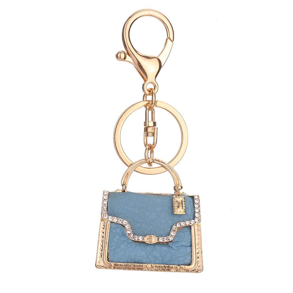 Girl Handbag Shape Key Chain Car Bag Crystal Pendant Women Keyring Birthday Gift Key Ring Jewelry