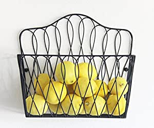 Tagway Home Wall Mount Storage Magazine Rack Fruit Basket