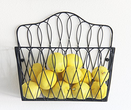 Tagway Home Multi-functional Wall Magazine Rack Fruit Basket Bathroom Toilet Tissue Paper Roll Storage Holder