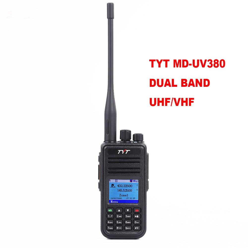 TYT MD-UV380 Dual Band VHF/UHF 136-174Mhz/400-480Mhz Handheld Two Way Radio (Ham)