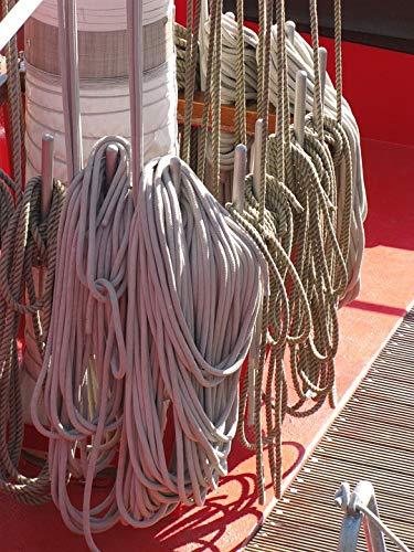 Home Comforts Sailor Knot Sail Mooring Rope Mast Sailboat Boat Vivid Imagery Laminated Poster Print 11 x 17 (Ropes Masts And Sails Of A Boat)