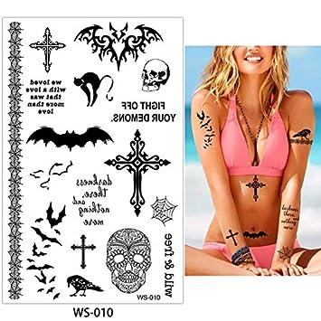AZXPLM Etiqueta Engomada Del Tatuaje 4 Diseños 1 Hoja De Halloween ...