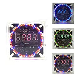 DIY Electronic Suite Round Digital Clock Music Ringtones 5V
