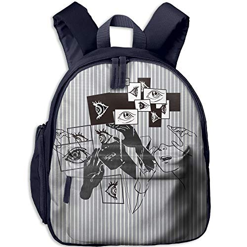 Cute School For Backpack Eyes Stripes Navy Fashion Backpack Canvas Toddler Mini Boys Girls CqXxSR
