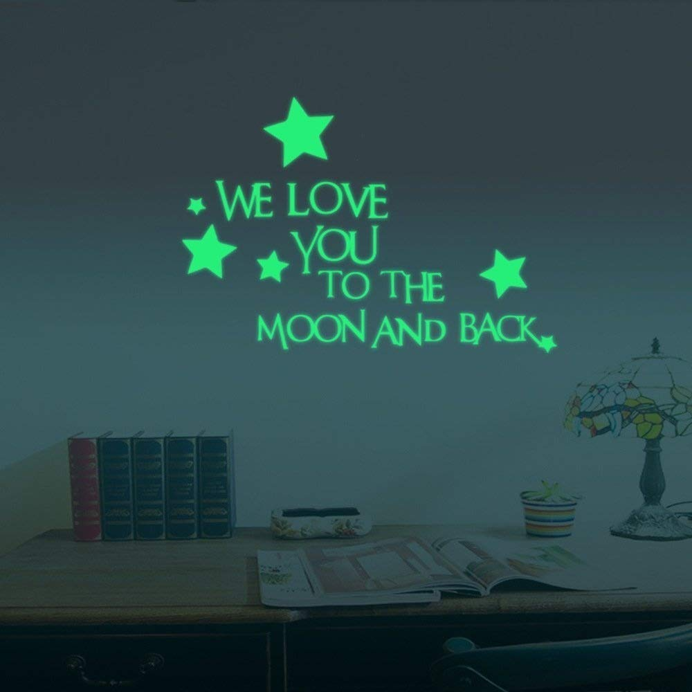 ufengke/® We Love You Stars Wall Decals Fluorescence Stickers Glow in The Dark Childrens Room Nursery Removable Wall Stickers Murals Children/'s Room Nursery Removable Wall Stickers Murals Ufingo UF-QSA016