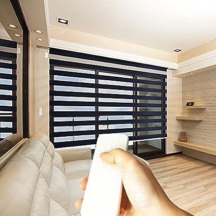 Amazon godear design zebra design roller window shades godear design zebra design roller window shades motorized remote privacy horizontal blinds solutioingenieria Image collections
