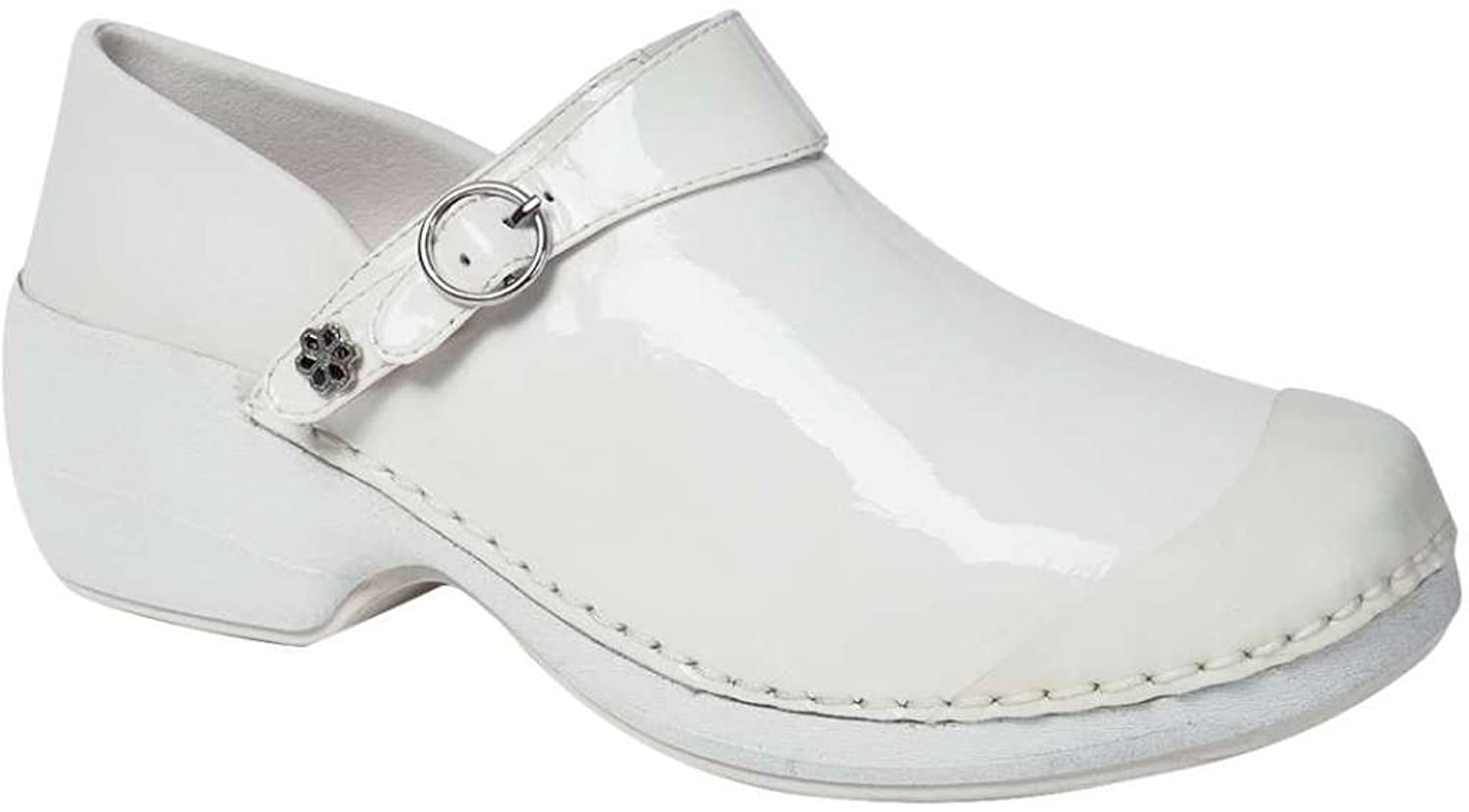 4EurSole RH006 Women's Health Care Clog White