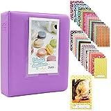 Ablus 64 Pockets Mini Photo Album for Fujifilm Instax Mini 7s 8 8+ 9 25 26 50s 70 90 Instant Camera & Name Card (Purple)