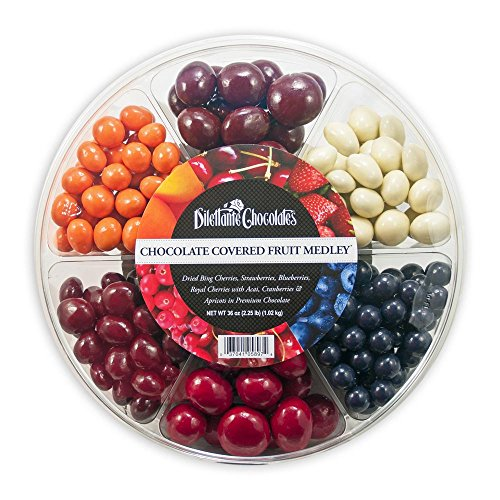 Chocolate Fruit Medley Wheel - 36oz - Dilettante ()
