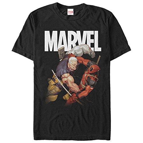 Marvel Men's Cable & Deadpool Battle Black ()