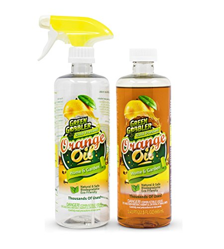 Oil Spray Cleaner Orange Trigger - Green Gobbler All Natural Orange Oil Concentrate - 22.5 oz (D-Limonene)