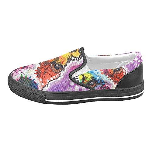 Unik Debora Tilpasse Mote Kvinners Joggesko Uvanlige Loafers Slip-on Canvas Sko Multicoloured55