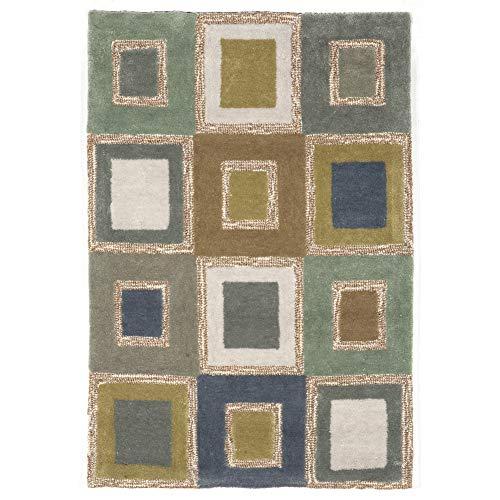 (Liora Manne SLO23205504 Spello Concentric Squares Rug Big Squares Indoor/Outdoor Rug 2' X 3' Blue )