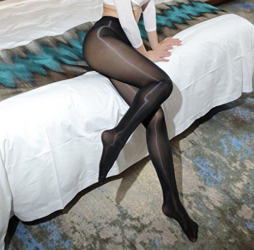 21f44c242c8 Super Shiny Footed Tight Oily Bright Shimmery Stockings Pantyhose 8 Denier  912-Pin Socks