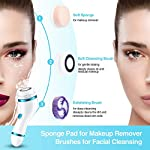 【New Version】Facial Cleansing Brush, Rechargeable Electric Rotating Face Scrubber with Latest Ion Technology & 4 Brush Heads, Perfect for Deep Cleansing, Gentle Exfoliating & Removing Blackhead