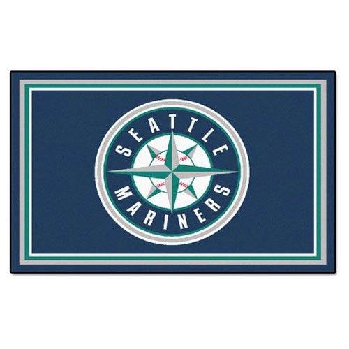 [MLB - Seattle Mariners 4 x 6 Rug] (Seattle Mariners Baseball Rug)