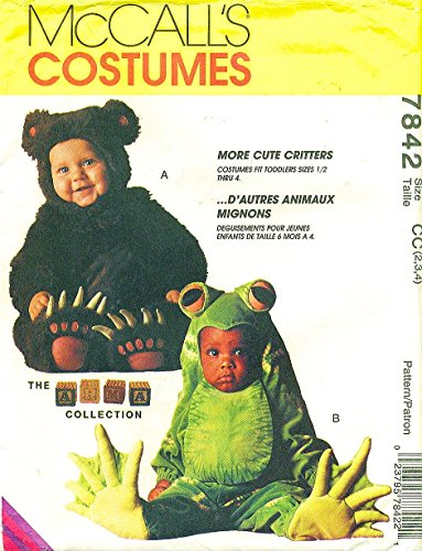 McCall's 7842 Toddler Costume Bear, Frog the Arma Collection Size 2,3,4 ()