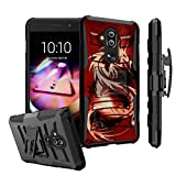 Untouchble | Case for Alcatel 7 from MetroPCS, Alcatel 7 Folio Holster case [Heavy Duty Clip] Combat Shockproof Two Layer Belt Clip Kickstand Cover Case Protector Rugged - Red Dragon