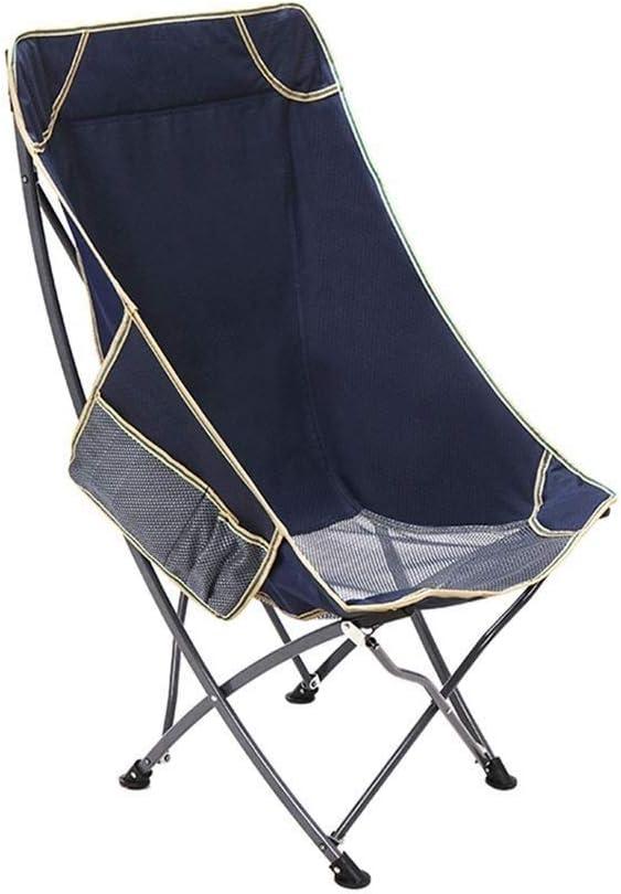 ポータブルキャンプチェア - 小さな折りたたみ式キャリング、収納バッグ、アウトドア、釣り、キャンプ、ピクニック、パーティー、ハイキングなどに適しています。 (Color : Blue)