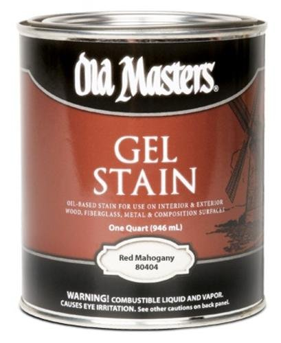 Old Masters Gel Stain (Old Masters 19076 80416 Red Mahogany Gel, 0.5 pint)