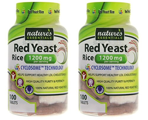 Nature's Essentials Red Yeast Rice 1200mg with Advanced Cyclosome™ Liposomal Delivery Technology - 100 Tablets (Pack of 2) by Nature's Essentials