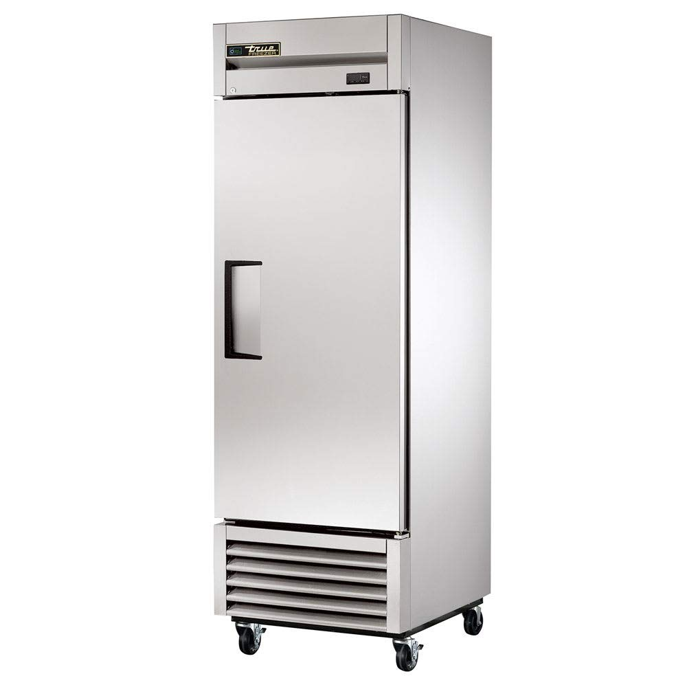 """True T-23-HC 27"""" One Section Reach In Refrigerator, (1) Right Hinge Solid Door, 115v"""