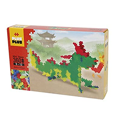 PLUS PLUS - Instructed Play Set - 360 Piece Dragon - Construction Building Stem Toy, Interlocking Mini Puzzle Blocks for Kids: Toys & Games