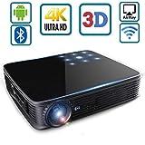 SeeYing I8 Proyector de vídeo de 3500 lúmenes Proyector portátil de cine en casa HD 3D 1280x800 LED Proyector de LED DLP Max 300 '' Mini Proyector Android Soporte 1080p WiFi Bluetooth Touch / Control remoto