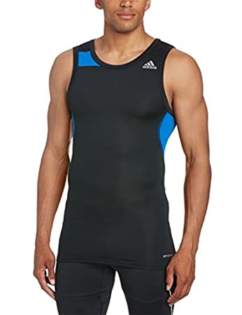 abab350639fae adidas Mens Climacool Techfit Cool Compression Tank Top D81293   Amazon.co.uk  Sports   Outdoors