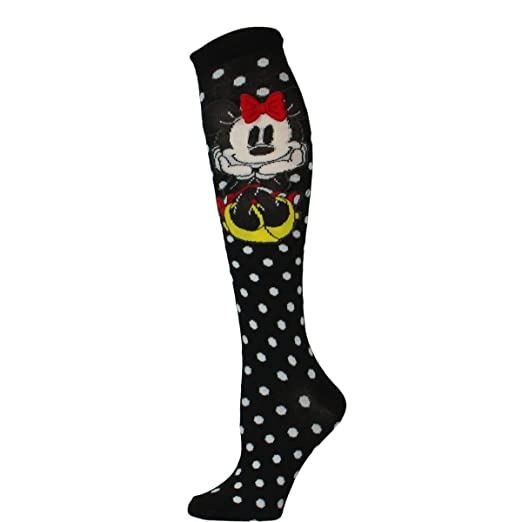 41d827fdab9 Image Unavailable. Image not available for. Color  Disney Minnie Mouse Rock  the Dots 3D Bow Knee Socks
