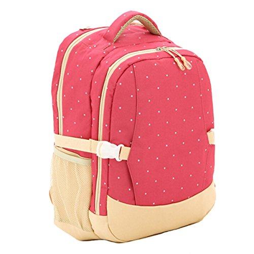 Win8Fong de la momia de gran tamaño para de la nariz del niño multifunción para electricidad la mochila de la capacidad de bolsa de palos de bolsa de pañales de algodón rosa Talla:41cm x 21cm x 31cm rosa