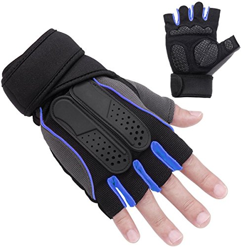 Mystyleshop Weight Lifting Gym Gloves Workout Wrist Wrap Sports Exercise Training Fitness